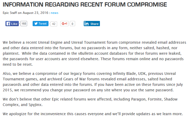 The Epic Games Forums Have Been Hacked - Best Security Search