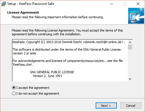 keepass-installation