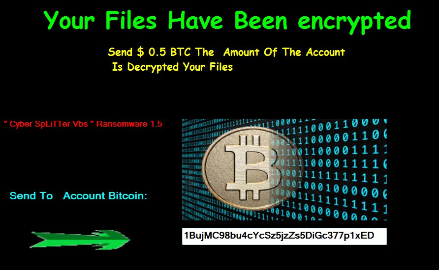 How To Remove Cyber SpLiTTer Vbs 1.5 Ransomware Virus