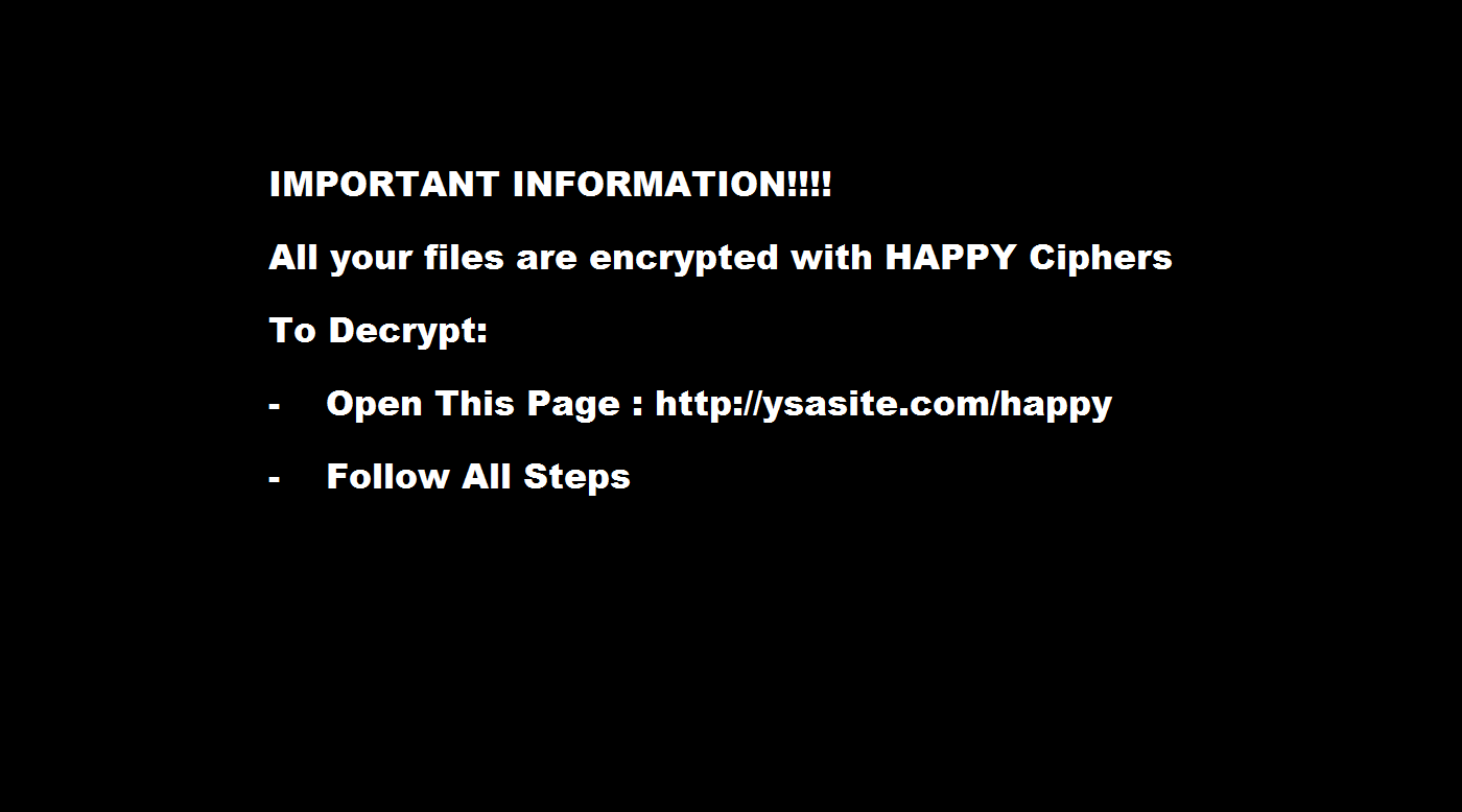 HappyLocker Ransomware Virus (Removal Steps And Protection Updates)
