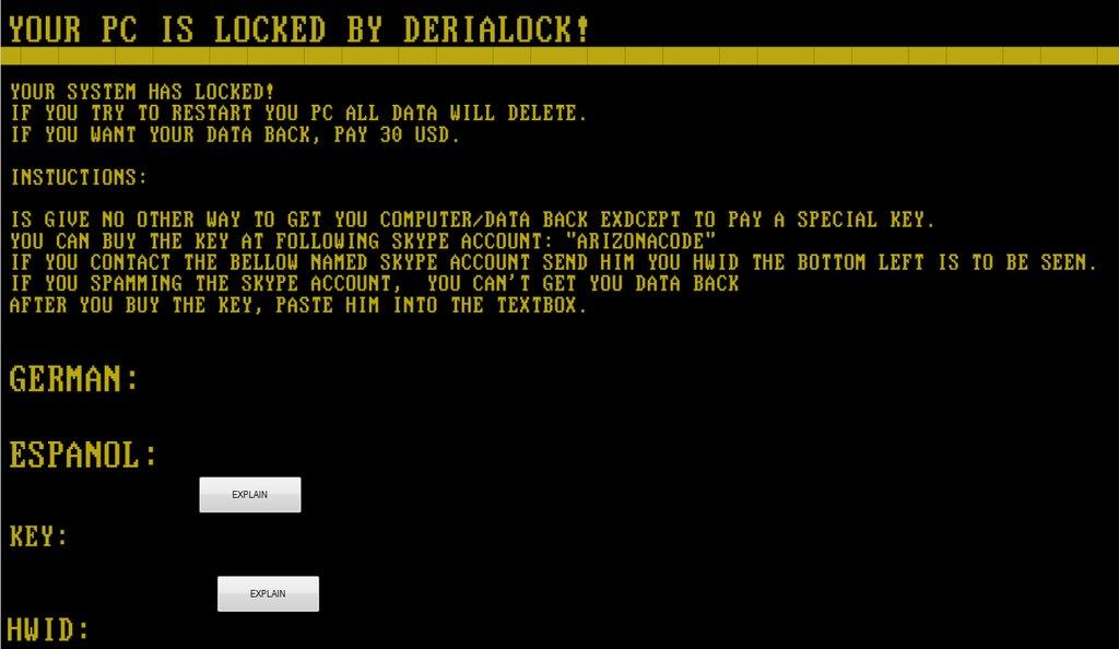 Screen Locker Ransomware Variant