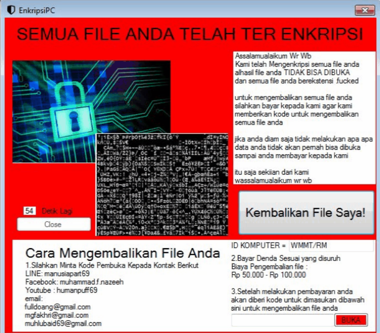 EnkripsiPC Ransomware Virus (Removal Steps and Protection Updates)