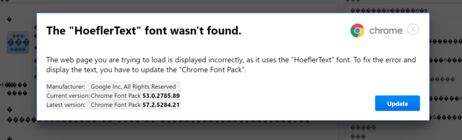 HoeflerText font popup google chrome scam spora ransomware bestsecuritysearch
