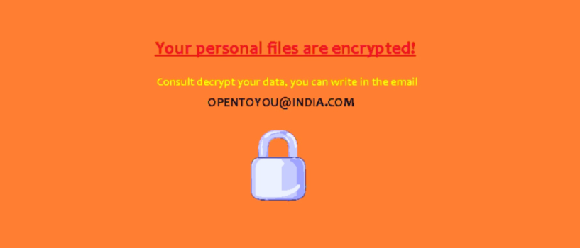 Remove Opentoyou@india.com Ransomware Virus