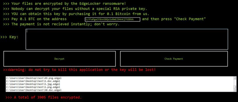 Edgelocker Ransomware Virus (Removal Steps and Protection Updates)