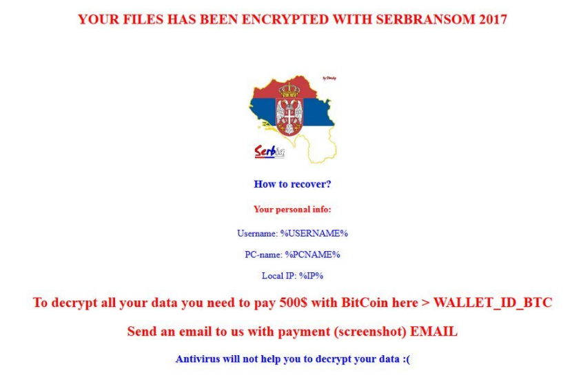 SerbRansom 2017 Ransomware Virus (Removal Steps and Protection Updates)