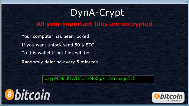 DynA-Crypt Ransomware Virus (Removal Steps and Protection Updates)