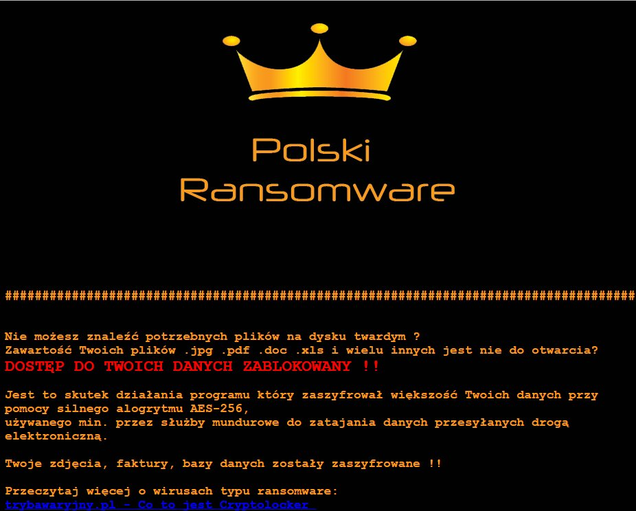 Polski Ransomware Virus (Removal Steps and Protection Updates)