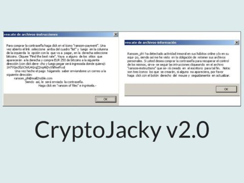 CryptoJacky (v2.0) Ransomware Removal Guide and Decryption Help