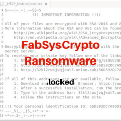 FabSysCrypto Ransomware bestsecuritysearch bss