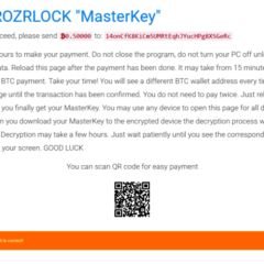 FileFrozr Ransomware Note
