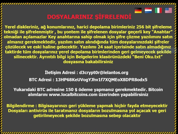 Turkish FileEncryptor Ransomware Removal Guide