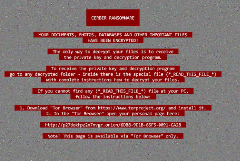 Cerber 2017 Ransomware In-Depth Removal Instructions