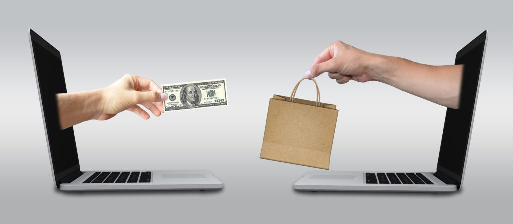 E-commerce online financial transaction image