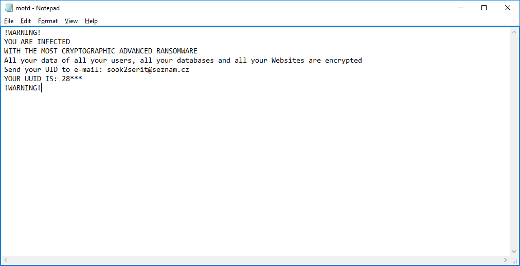 MOTD Ransomware Complete Removal Guide and Detailed Description