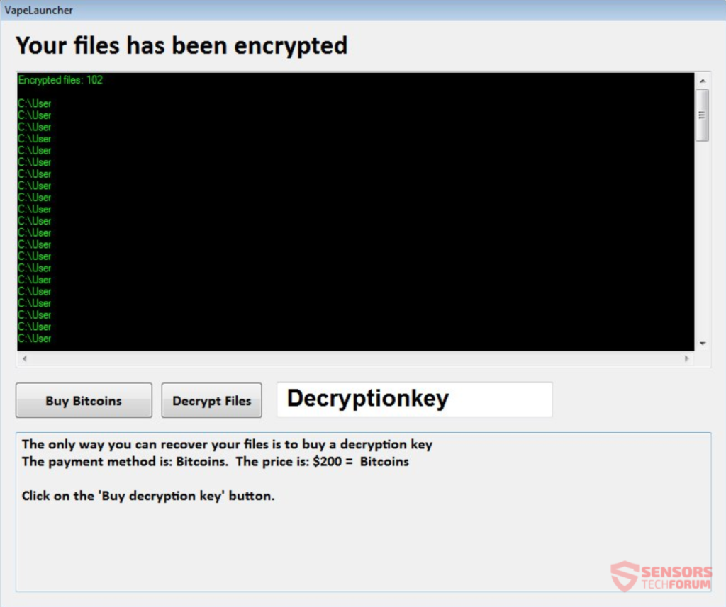 VapeLauncher Ransomware Recovery Instructions (Complete Virus Removal Guide)