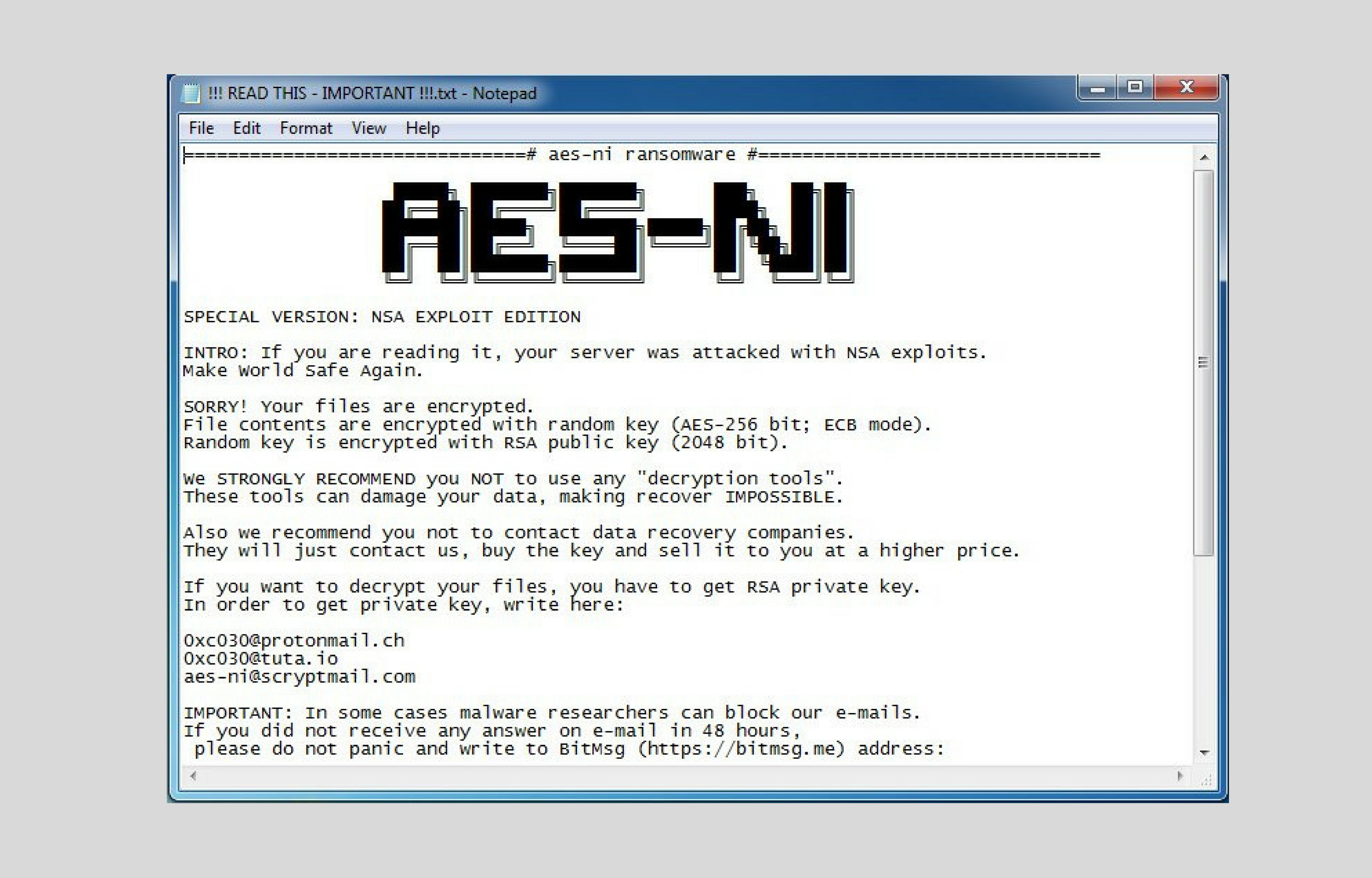 Aes_ni_0day Ransomware Removal Instructions - Fix Your Windows