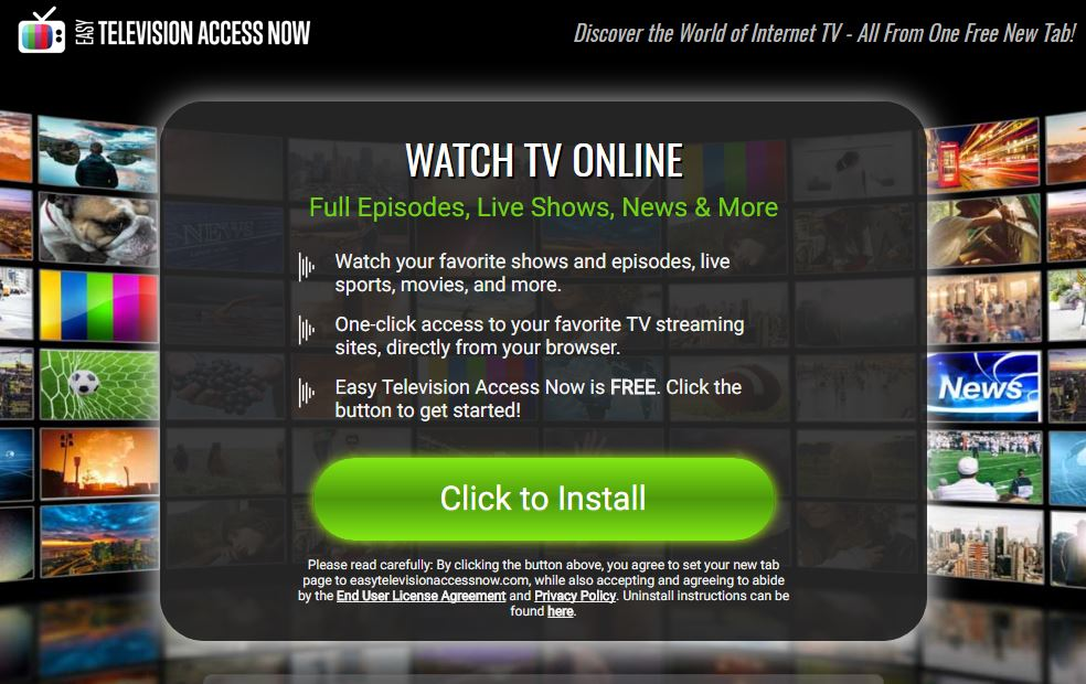 Easy Television Access Now Browser Hijacker Featured Image