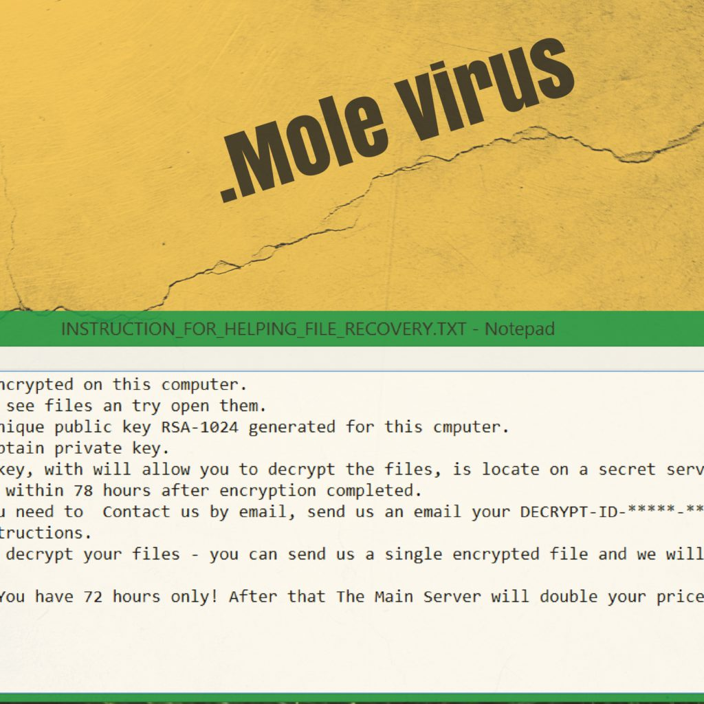 How to Remove .Mole Virus File and Recover Encrypted Data