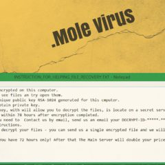 Mole Virus file ransomware removal guide bestsecuritysearch bss