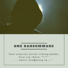ONE RANSOMWARE .one Recupere seus arquivos aqui.txt one@proxy.tg bestsecuritysearch