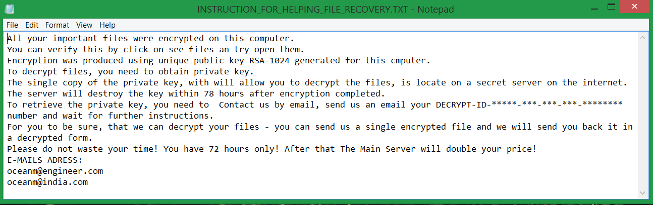 mole virus file ransom note INSTRUCTION_FOR_HELPING_FILE_RECOVERY TXT
