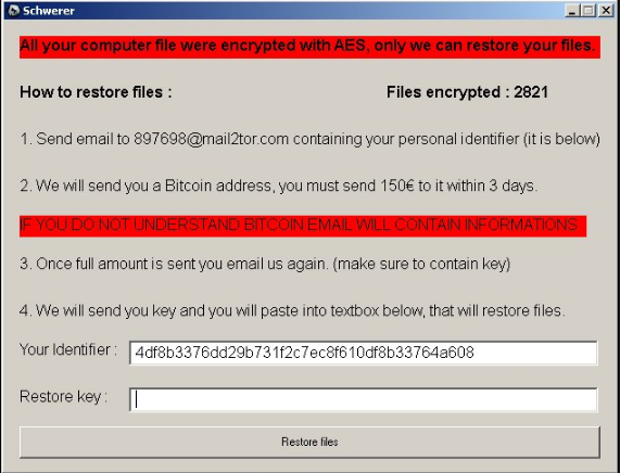 Schwerer Ransomware Removal Guide (Complete Instructions)
