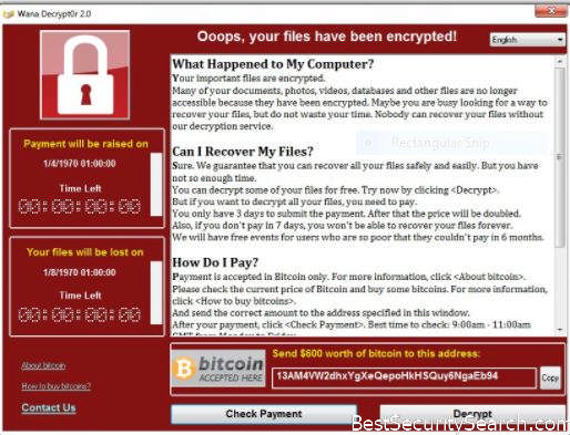 Wanna Decrypt0r 2 Ransomware Virus Featured Image