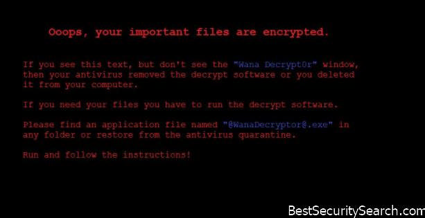 Wanna Decrypt0r Ransomware Virus Backup note image