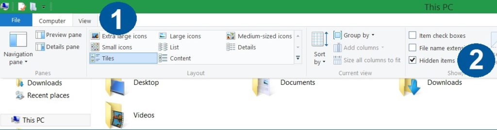 how to make hidden files visible in Windows 8 10 bestsecuritysearch instructions