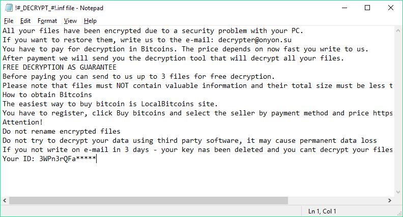 OnyonLock ransomware virus note featured image