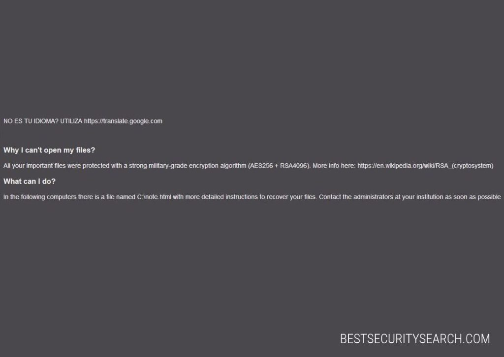 Reetner Virus ransomware image