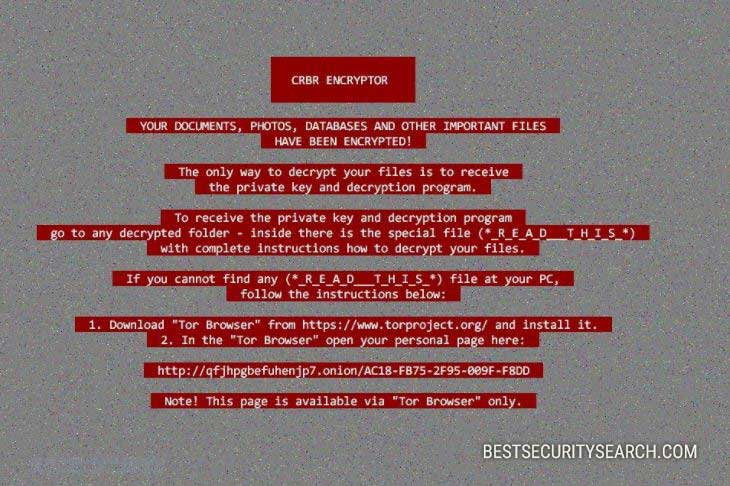 Crbr Encryptor Virus ransomware image