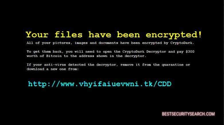 CryptoDark Virus ransomware image