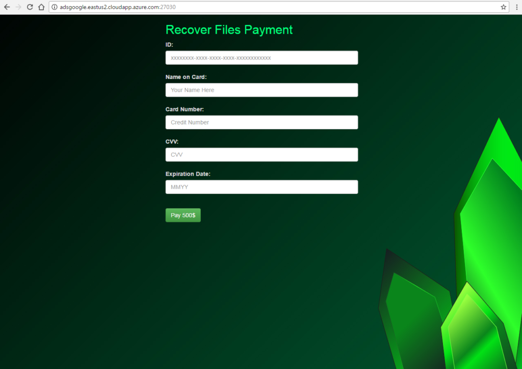 kryptonite-virus-ransomware-payment -page