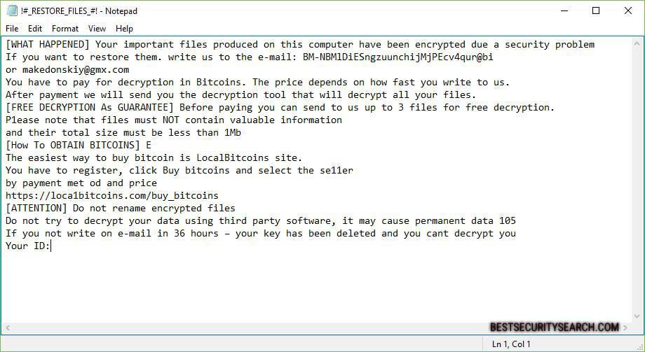 .master file virus ransomware note