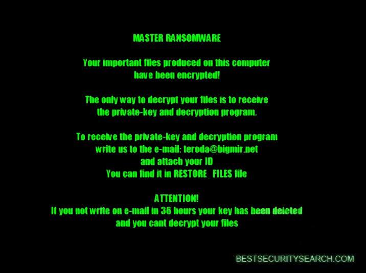 .master file virus ransomware lockscreen