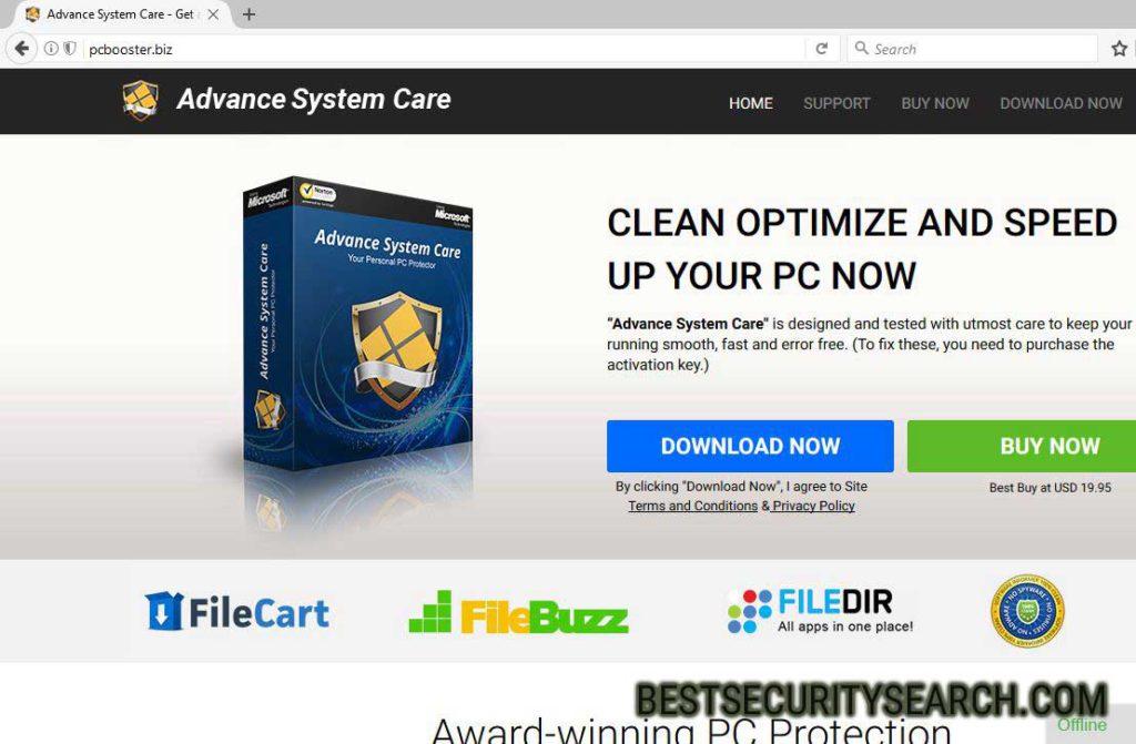 pcbooster.biz Browser Hijacker image