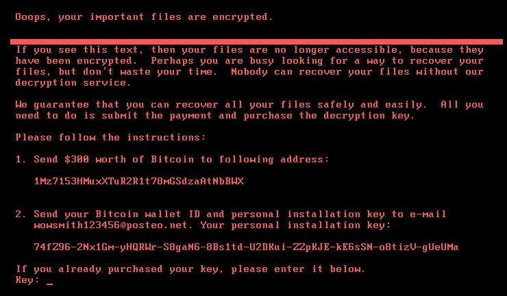 Petya ransomware virus oops your important files are encrypted ransom note bestsecuritysearch
