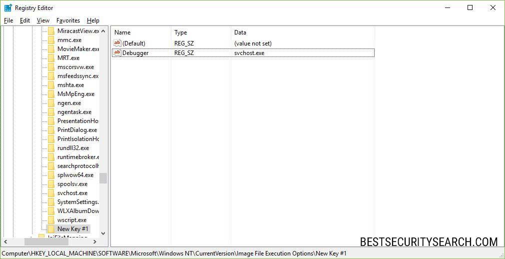 Petya ransomware registry editor image