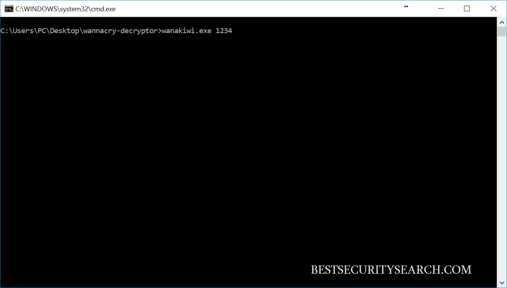 Command prompt window image