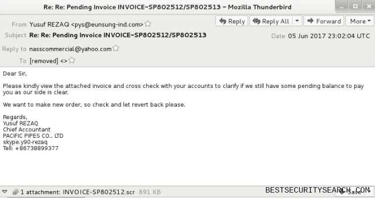 Zeus virus ransomware note
