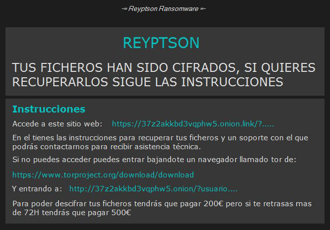 Reyptson ransomware pop up desktop lock wallpaper message bestsecuritysearch