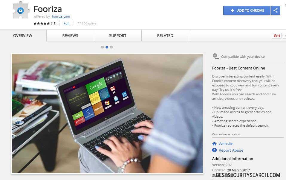 Fooriza browser hijacker image