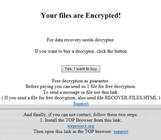 .726 virus ransomware note image