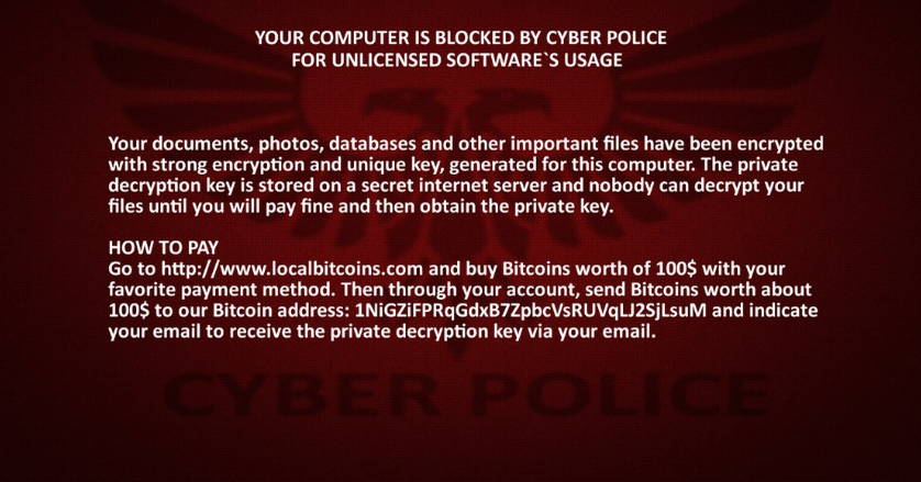Cyber Police Virus image