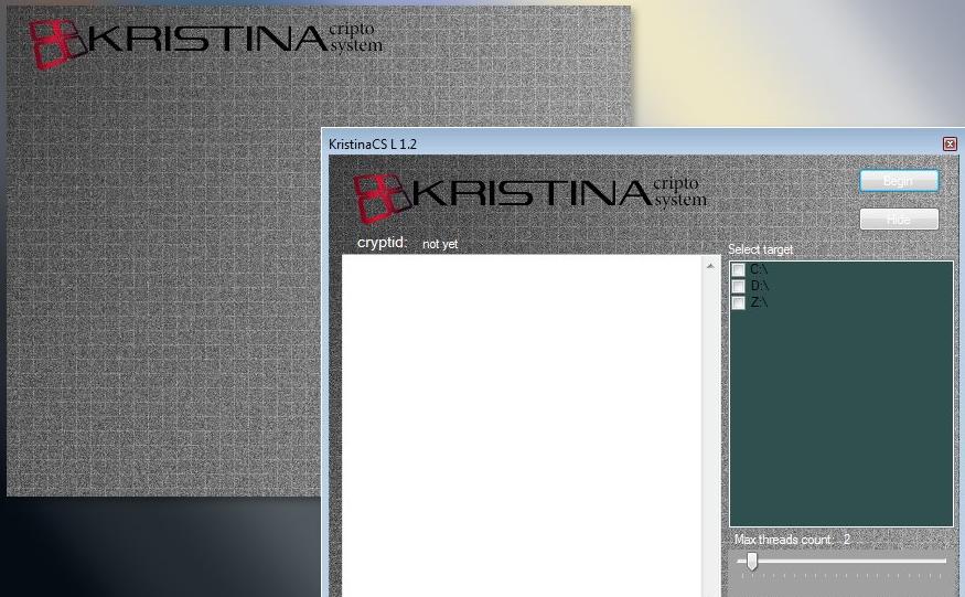 Kristina ransomware image