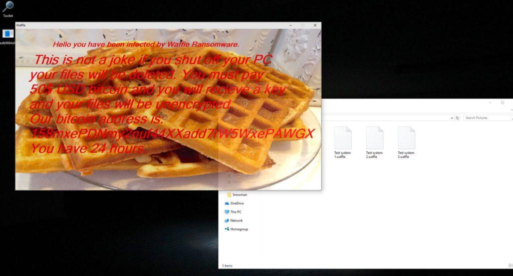 Waffle ransomware image