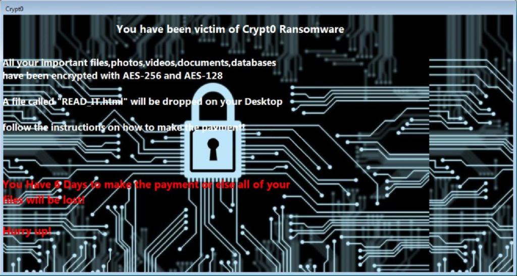 Crypt0 virus image