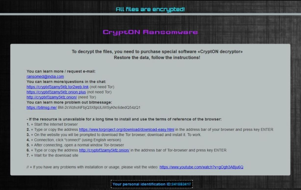 crypton ransomware .id.ransomed@india.com ransom note bestsecuritysearch com guide
